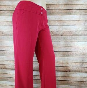 Apt.9 curvy fit trouser leg red pants 8